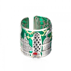 01 Jewelry Enamel Collection London City Ring 01J-2790